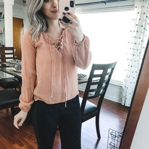 Forever 21 Tops - Forever 21 Peach Blouse Small